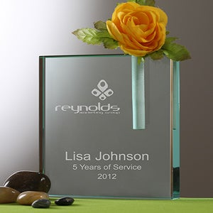 Personalized Corporate Engraved Logo Vase and Penholder - 9987