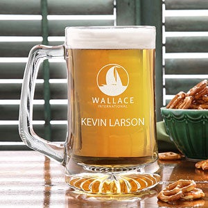 Personalized Corporate Engraved Logo Glass Bar Mug - 9994