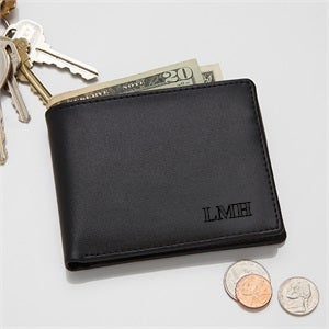 Fathers Day Gifts From Wife - Regent Personalized Leather Bi-Fold Wallet - #2839-DE-001