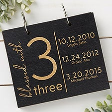 Blessed With Personalized Wood Photo Albums - 30044