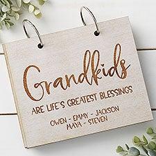 Grandkids Personalized Wood Photo Albums - 30052