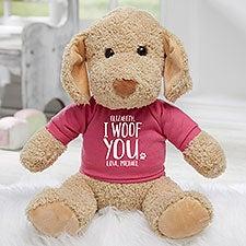 I Woof You Personalized Plush Dog Stuffed Animal - 30125