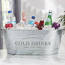 Family Market Personalized Galvanized Beverage Tub - 30139