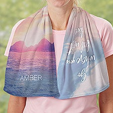 Nature Quotes Personalized Cooling Towel - 30173