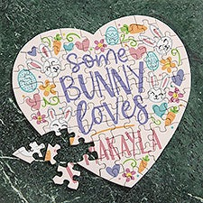 Somebunny Loves You Personalized Heart Puzzle - 30257