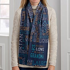 Reasons Why For Grandma Personalized Women's Fleece Scarf - 30277