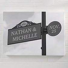Established Street Sign Wedding Personalized Canvas Prints - 30305