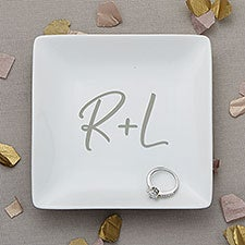 Initials Wedding Personalized Ring Dish - 30318
