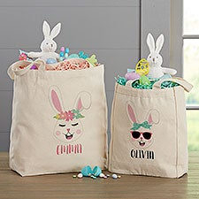 Build Your Own Girl Bunny Personalized Easter Tote Bags - 30514