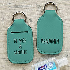 Write Your Own Personalized Hand Sanitizer Holder Keychain - 30572