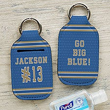 Sports Jersey Personalized Hand Sanitizer Holder Keychain - 30573