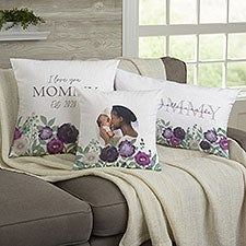 Floral Love For Mom Personalized Throw Pillows - 30594