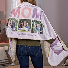 Glad You're Our Mom Personalized Photo Cuddle Wrap - 30606