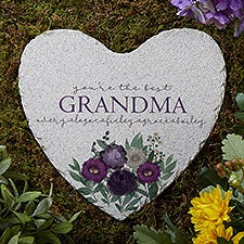 Floral Love For Grandma Personalized Garden Stone - 30628