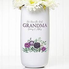 Floral Love For Grandma Personalized Ceramic Vase - 30638
