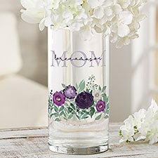 Floral Love For Mom Personalized Glass Flower Vase - 30639