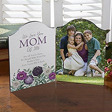 Floral Love For Mom Personalized Photo Plaque - 30641