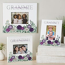 Floral Love Personalized Grandma Picture Frames - 30686