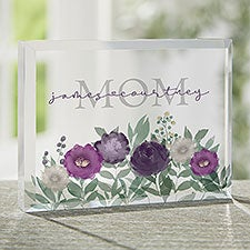 Floral Love For Mom Personalized Colored Keepsake - 30692