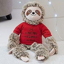 I Love You a Sloth Personalized Plush Sloth Stuffed Animal - 30716