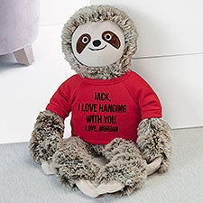 Write Your Own Personalized Plush Sloth Stuffed Animal - 30720