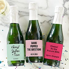 Wedding Expressions Personalized Mini Champagne Labels - 30756