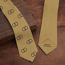 Choose Your Icon Personalized Wedding Men's Tie - 30834