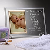 Personalized Birth Announcement Glass Baby Picture Frame - 3084