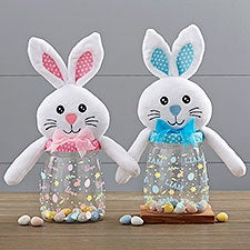 Colorful Easter Pattern Personalized Easter Bunny Candy Jars - 30955