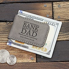 Bank Of Dad Personalized Magnetic Money Clip - 31011