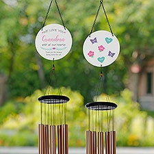 All Our Hearts Personalized Wind Chime - 31112