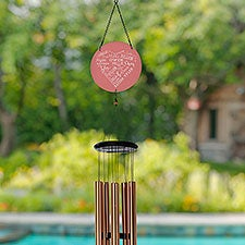 Close To Her Heart Personalized Wind Chimes - 31115