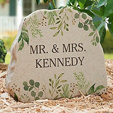 Laurels of Love Personalized Standing Garden Stone - 31124