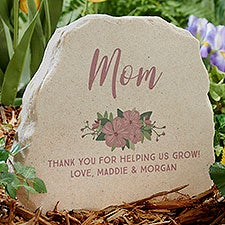 Floral Special Message Personalized Standing Garden Stone - 31127