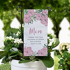 Floral Special Message Personalized Mini Garden Flag - 31137