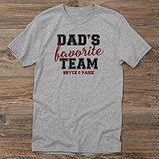Dad's Favorite Team Personalized Men's Shirts - 31157