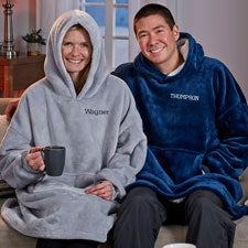 Classic Comfort Personalized Oversized Huggie Hoodie Blankets - 31187