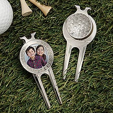 Personalized Photo Divot Tool, Ball Marker & Clip - 31199