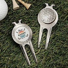 Best Dad By Par Personalized Divot Tool, Ball Marker & Clip - 31203