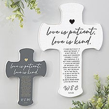 Love Is Patient Personalized Wedding Cross - 31318