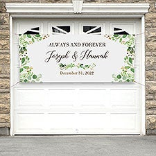 Laurels of Love Personalized Wedding Banner - 31319