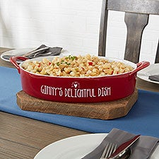 Made With Love Personalized Ceramic Oval Baking Dish - 31336