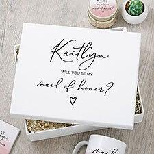 Watercolor Bridesmaid Proposal Personalized Keepsake Box - 31349