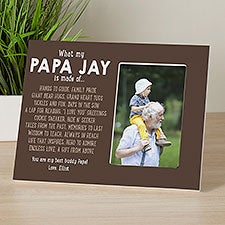 What Grandpas Are Made Of Personalized Picture Frame - 31368