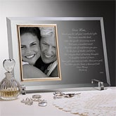 Personalized Glass Picture Frame Engraved for Mom - 3143