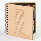 Personalized Wood Photo Album - Mother Poem  - 3144
