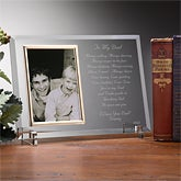 Christmas Gifts for Dad: Dear Dad Poem Personalized Frame