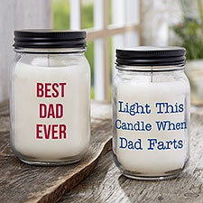 Write Your Own Personalized Farmhouse Candle Jar for Dad - 31453