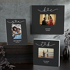 Drawn Together By Love Personalized Engagement Picture Frames - 31491
