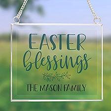 Easter Blessings Personalized Glass Suncatcher - 31512